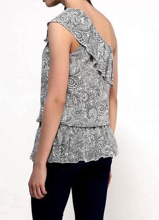 Блуза с баской с рюшами туника майка4 фото