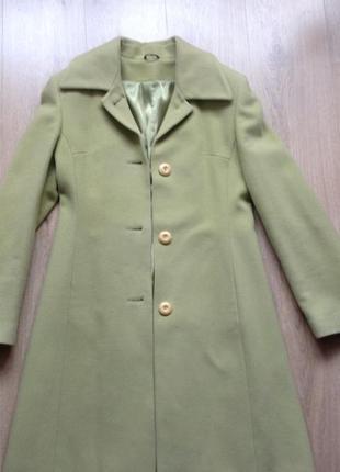 Кашемировое пальто kent фисташкового цвета размер s1 фото