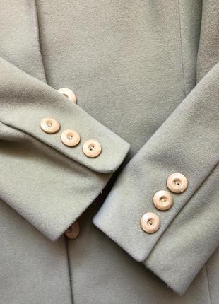 Кашемировое пальто kent фисташкового цвета размер s3 фото
