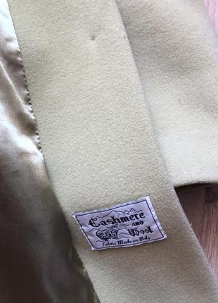 Кашемировое пальто kent фисташкового цвета размер s5 фото