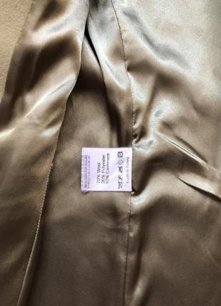 Кашемировое пальто kent фисташкового цвета размер s7 фото