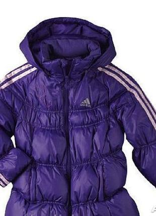 Теплая суперская куртка adidas оригинал на 4-6 лет. состояние идеальное!