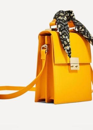 Сумка сумочка с платком от zara