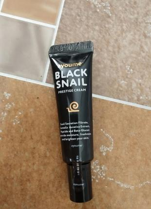 Мини-версия крема со слизью черной улитки ayoume black snail prestige cream