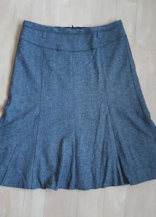 Серая шерстяная юбка gerry weber