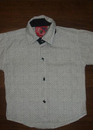 Фирменная рубашка мальчику 3-4 лет хлопок отличная