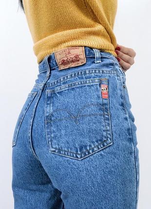 Джинсы мом винтаж момы высокая посадка плотные  hareno vip jeans