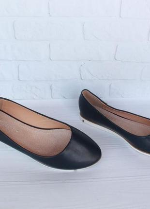 Туфли, балетки 37 размера с кожаной серединой