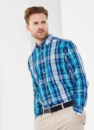 Рубашка в полоску р. евро l 41 42 tcm tchiboгермания синяя