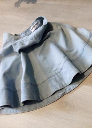 Брендовая юбка котон джинсовая