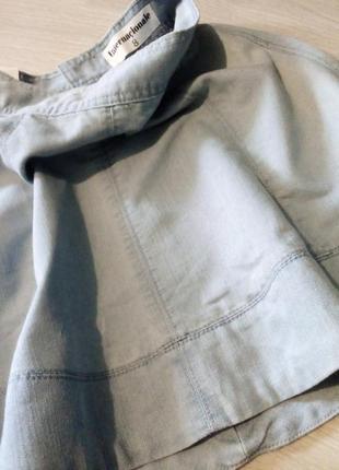 Брендовая юбка котон джинсовая2 фото
