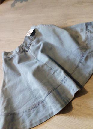 Брендовая юбка котон джинсовая7 фото