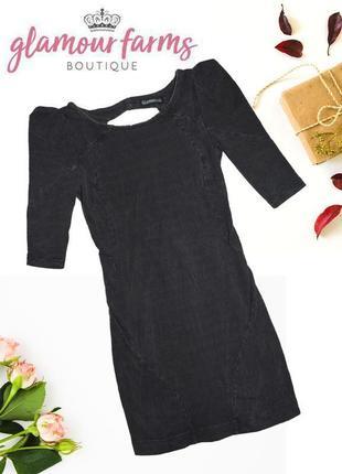 Платье с плечами и голой спинкой glamour