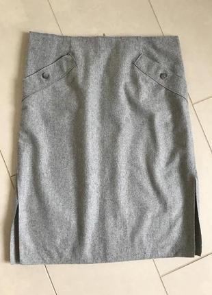 Юбка миди шерстяная стильная модная marco polo размер 42