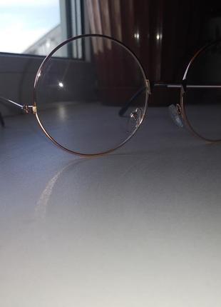 Имиджевые круглые очки без диоптрий