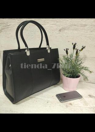Женская офисная сумка с длинной ручкой f9952-618 черная