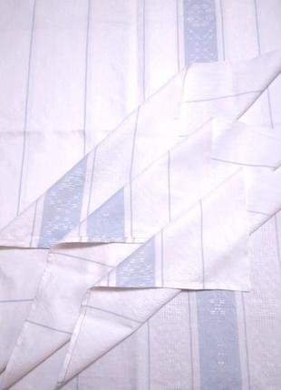 Льняная простыня с голубыми полосками