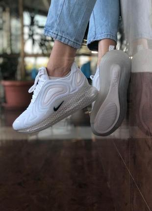 Шикарные женские кроссовки nike air max 720 white белые