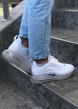 Шикарные женские кроссовки nike air max 720 white белые5 фото
