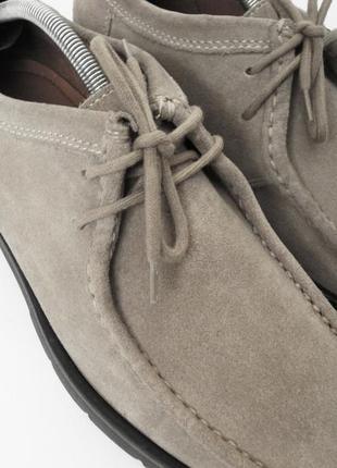 Мужские туфли кожаные замшевые clarks uk 8 42 43