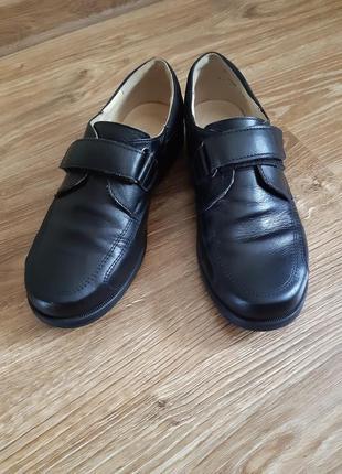 Туфли школьные кожаные классические для мальчика тм каприз