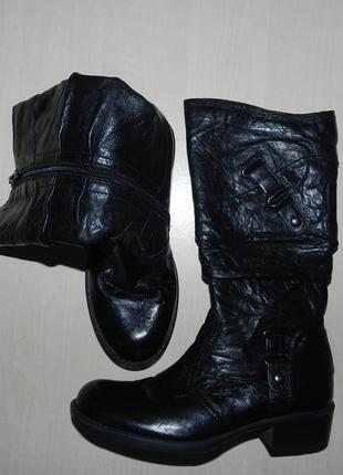 Сапоги качественные кожаные
