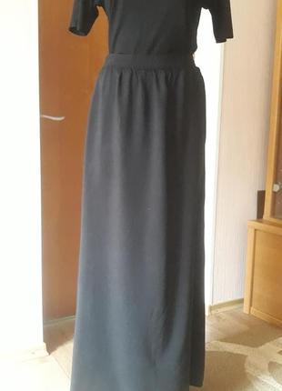 Женская черная длинная юбка в пол new look р-р s