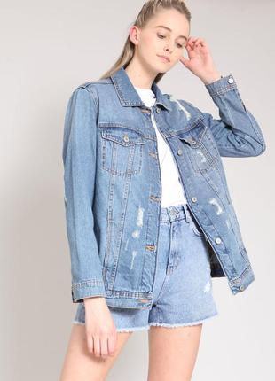 Стильная джинсовая курточка, джинсовка оверсайз