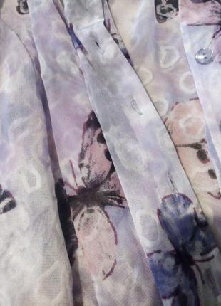 Рубашка блузка бабочки нейлон4 фото
