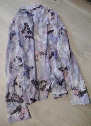 Рубашка блузка бабочки нейлон7 фото