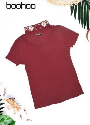 Укороченная футболка с горловиной select