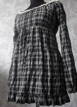 Платье-туника в клетку с эффектом крэш, giorgio ajutanti