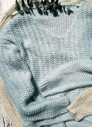 Нежно голубой свитерок актуальной вязки dorothy perkins