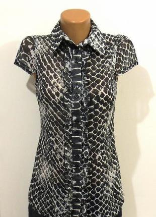 Черно белая блуза от vila идеальна для базового гардероба размер: 44-s, m