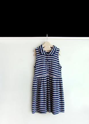Платье в синюю полоску next на 3-4 года / 104 см