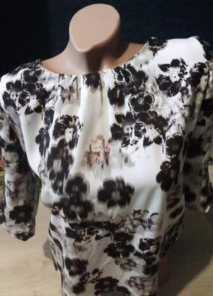 Брендовая блузка принт2 фото