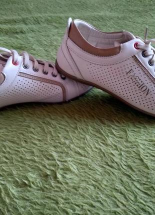 Летние мужские кожанные туфли