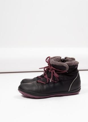 Черные ботинки не промокаемые  на меху camper