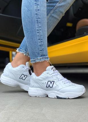 Шикарные женские белые  кроссовки new balance 608 v1 white 😍 (весна/ лето/ осень)