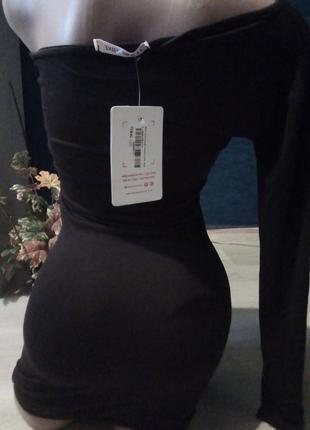 Платье туника с одним рукавом