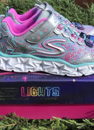 Skechers led memory foam кроссовки для девочки