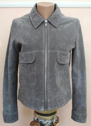 Куртка шкіряна замшева mango