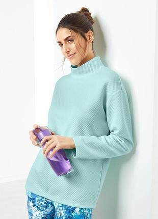 Мятный пуловер из структурированной ткани серии актив от tchibo(германия)