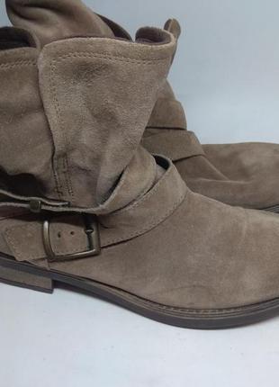 Замшевые деми ботинки 40 размер