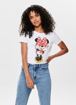 Only футболка принт мини маус
