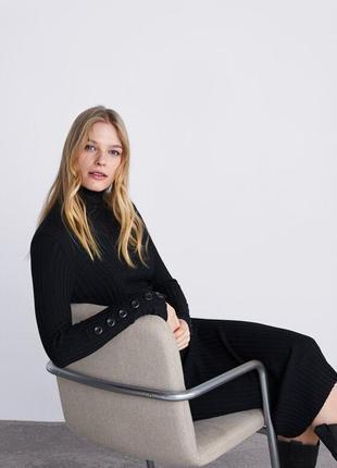 Zara платье в рубчик , m, l