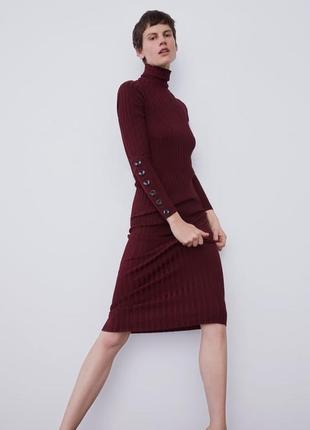 Zara платье гольф в рубчик, м, l