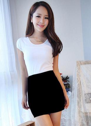 Мини обтягивающая юбка фото