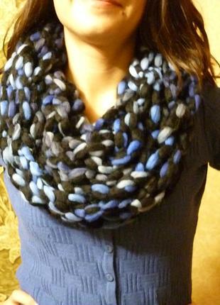 Новый необычный шарф снуд ручной работы