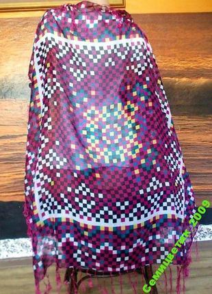 Интересный платок с монетками 95х95см